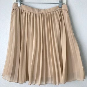 ASOS Pleated Skirt Cream Size 8